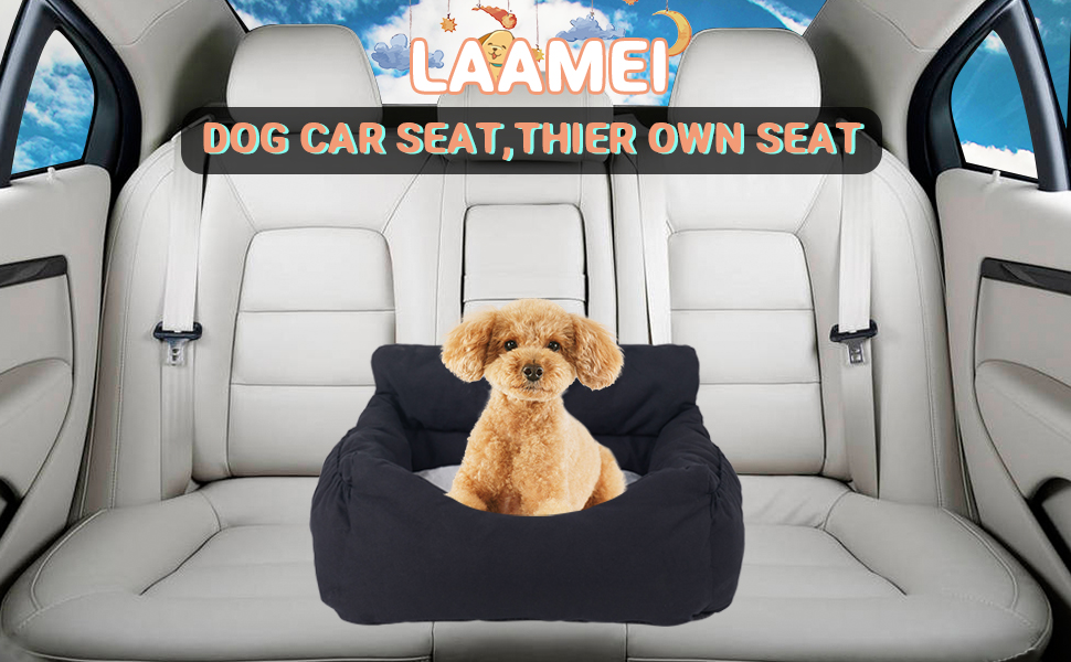 Easy to Install Water Resistant Pet Booster Seat for Car Dog Car Seat 2 in 1 Car Seat Cover