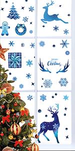 213pcs Christmas Reindeer Window Decal Stickers