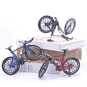 Toy Dirt Bike Riders Blue Toy Black Mountain Bike Bicycle Mountain Bike Mountain Bike Decor