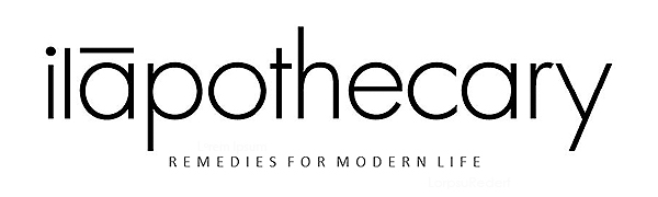 ilapothecary logo black and white remedies for modern life