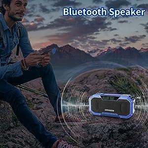 Dynamo shortwave battery small supply kit noaa Portable Bluetooth Alert Speaker AM FM weather Radio