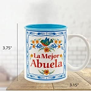 La Mejor Abuela Grandmother is the greatest ceramic coffee mug