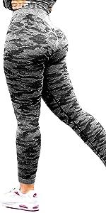 camo sömlösa leggings