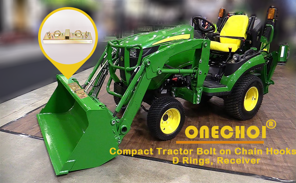 Tractor Bucket Hooks with 70° Curved Edge