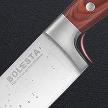 Super sharp professional chef's knife with enhanced finger guard Non-Stick Coating Sharpener