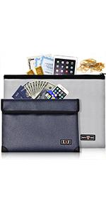 Fireproof Document Money Bag