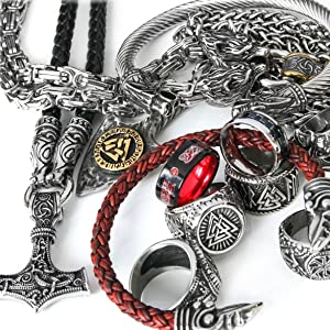 large collection of cool men jewelry
