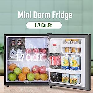 RESTEC 1.7 Cu.Ft. Mini Fridge with Freezer