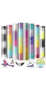 Tie Dye Series Gradient Glitter HTV