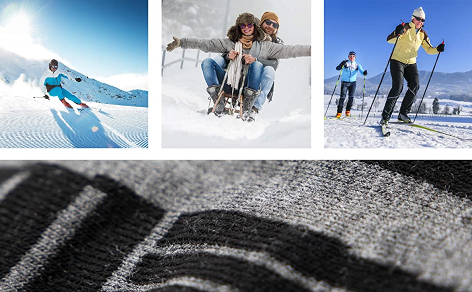 Image collage of people engaging in Winter activities