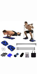 Portable Home Gym Workout Equipment with 12 Exercise Accessories
