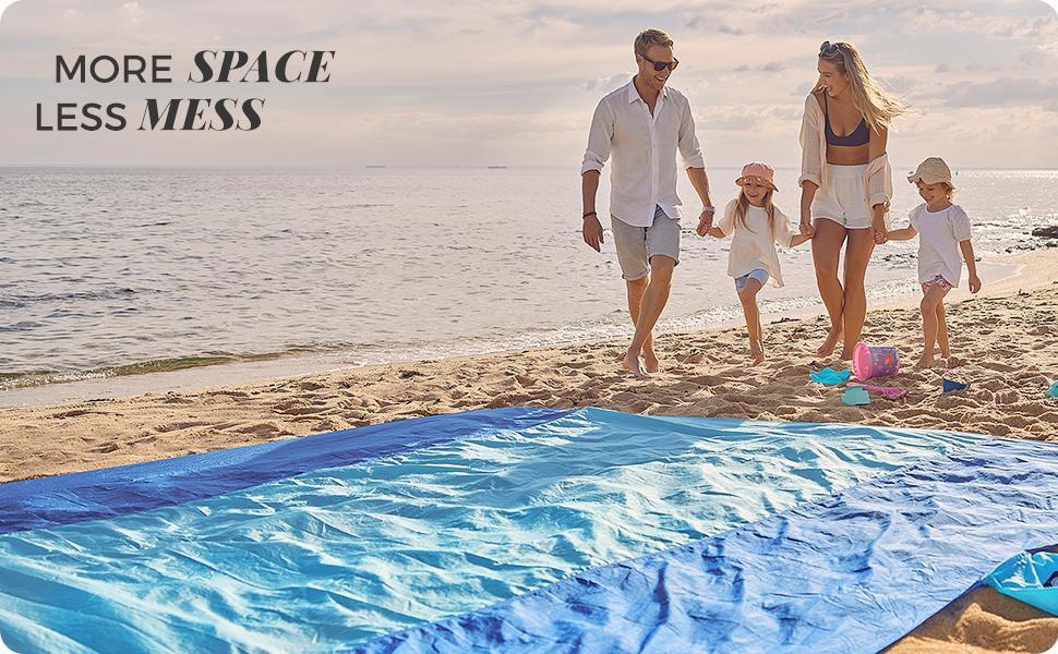 family life with wekapo beach blanket sand free extra large