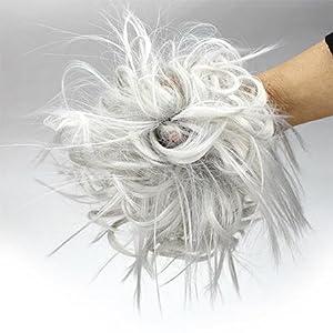 Grey hair bun
