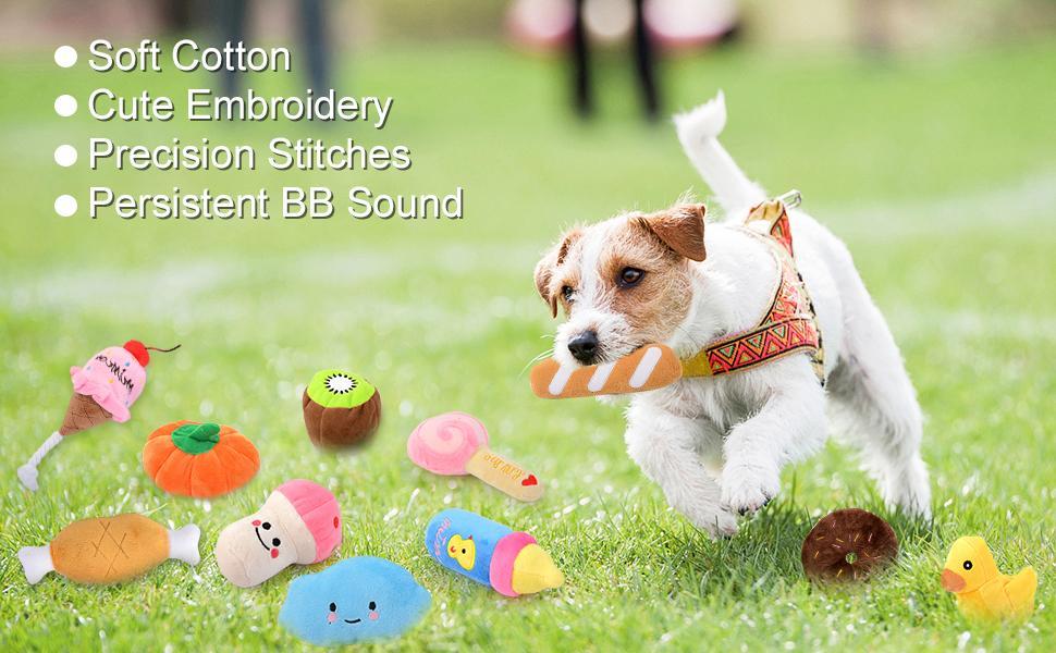 Dog Squeaky Toys Plush Soft