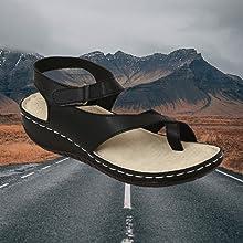 YAHE Women Ortho Black Sandals