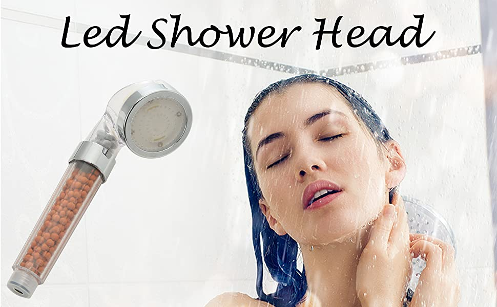 LED shower head, shower head, high pressure shower head,handheld shower head