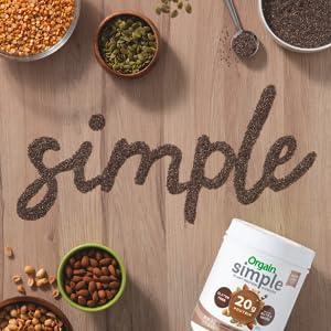 Simple, Plant-Based Ingredients