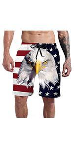 mens american flag swim trunk