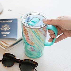 Details about  /Choose Joy White//Steel Travel 14oz Mug ii578t