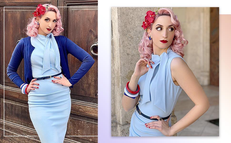 Summer retro dress for women