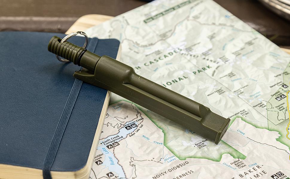 asr outdoor fire starter flint rod emergency preparedness item camping gear hiking camp tools