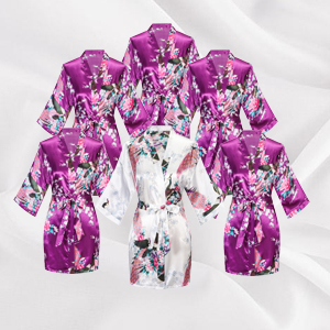 wedding robes for bride bridesmaids