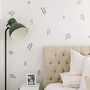 Modern Maxwell leaf wall decal