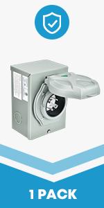 30Amp Generator Power Inlet Box