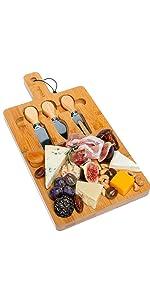 bamboo serving tray, bamboo tray, bamboo server, wooden chopping board, wood chopping board large