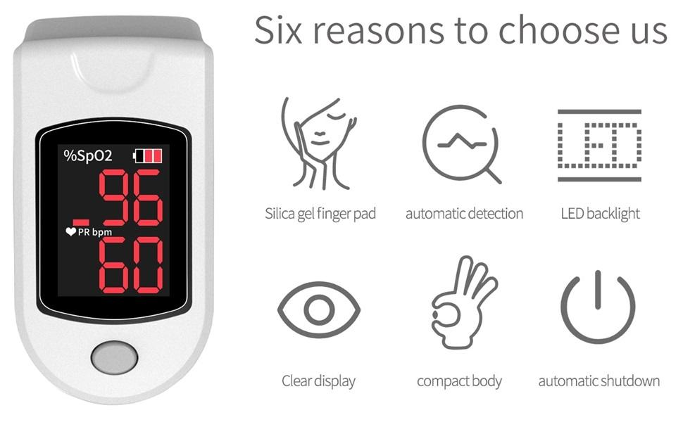 RNG EKO GREEN Oximeter for SpO2 And Pulse Rate Measurement