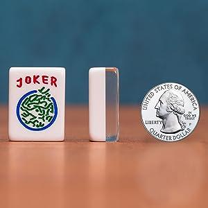 "American Mahjong Set, ""Koi Fish Motif"" with Wooden Case"