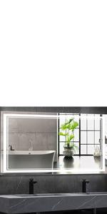 48X32 Inch LED Bathroom Mirror