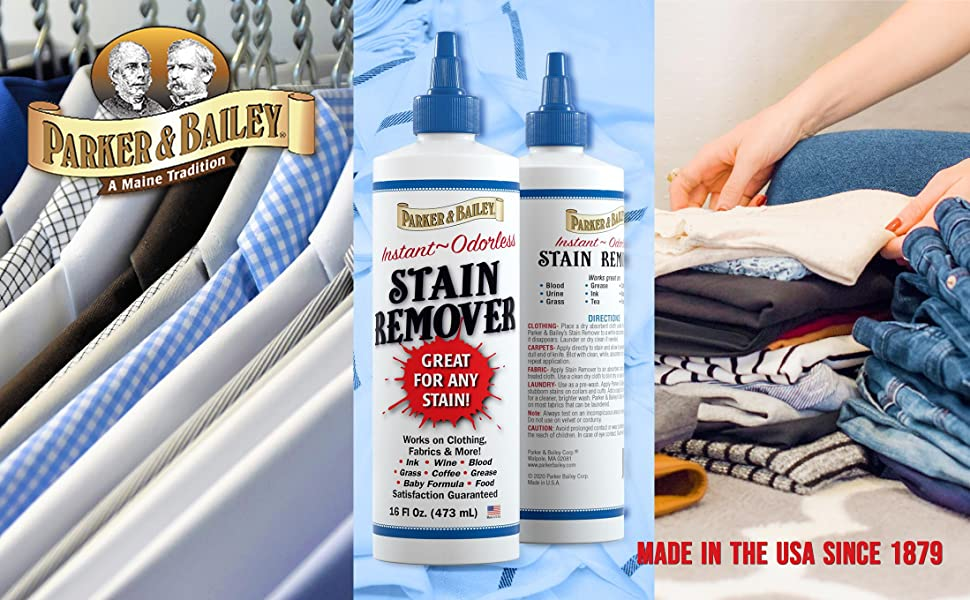 parker and bailey laundry stain remover for clothes and upholstery