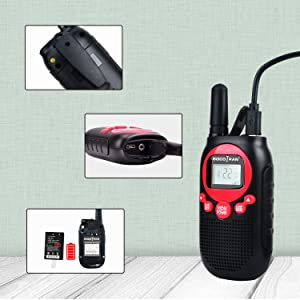 chargable rechargeable walkie talkies for adults kids two way radio