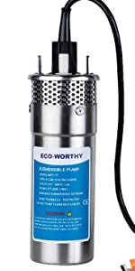 12v stainless steel dc pump well