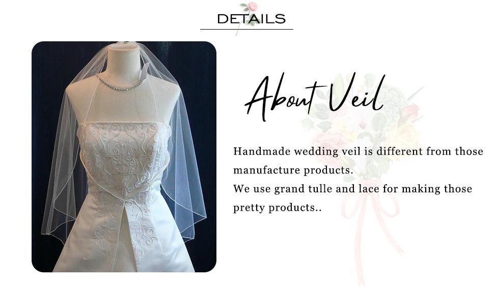 Bridal veil white for women and girls