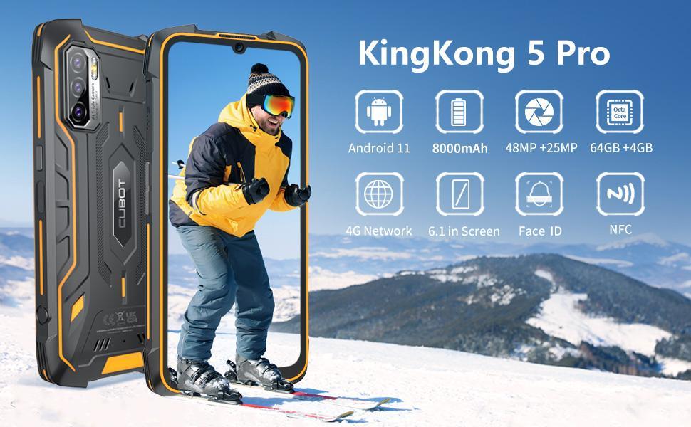 rugged smartphone unlocked cubot kingkong 5 pro unlocked android phone waterproof cell phone tmobile