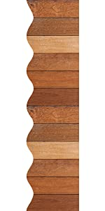 36 Ft Dark Wood Bulletin Board Borders