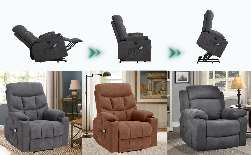 Power Lift Recliner Chair with Massage and Heat