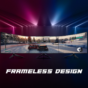 frameless gaming monitor no bezel