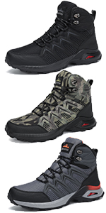 men male youth teenager boys winter boots snow booties mid waterproof hiking shoes cold-weather
