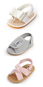 RVROVIC Baby Sandals Premium Infant Summer Outdoor Shoes PU Lightweight Toddler Prewalker
