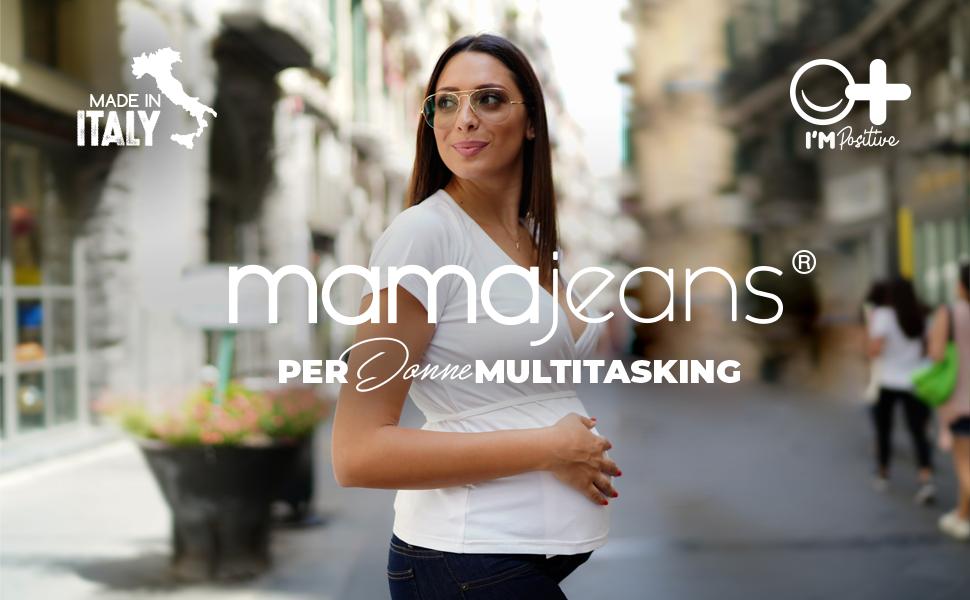 Mamajeans Confortevole e alla Moda, per donne Multitasking