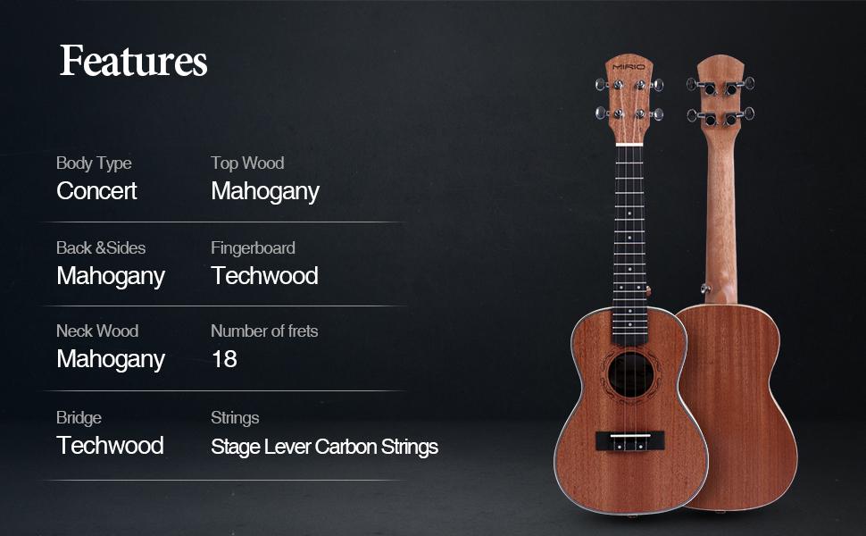 features of ukulele