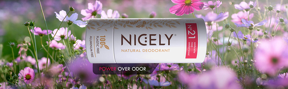 Plastic Free Natural Deodorant for Women and Men | Active 24 hours | Aluminum-free