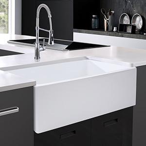 White Farmhouse Kitchen Sink