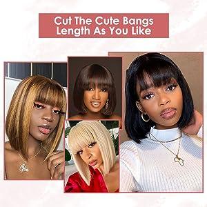 Cut the Cute Bangs Length As You Like