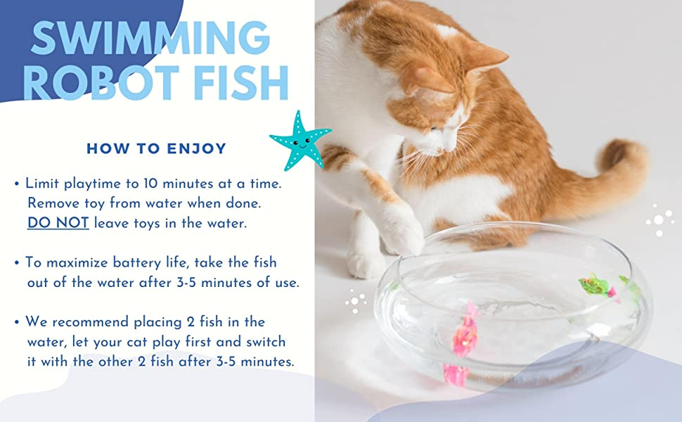 how to enjoy, instruction with swimming robot fish