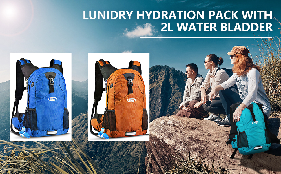 20L Hydration Backpack with 2L BPA Free Leak-Proof Water Bladder