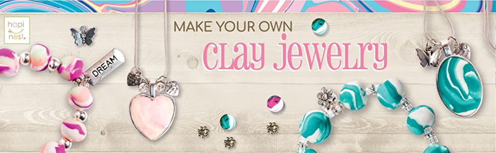 Make your own Clay Jewelry Kit by Hapinest